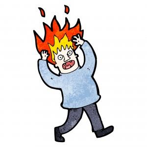 hair on fire illustration